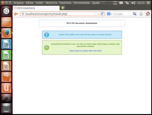 Finalizado a instalação do OCS Inventory Server
