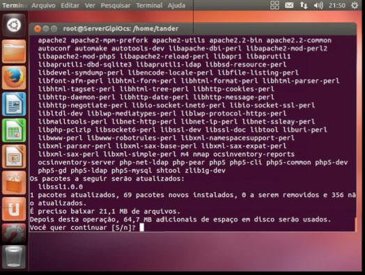 Pacotes necessários para instalação do OCS Inventory Server