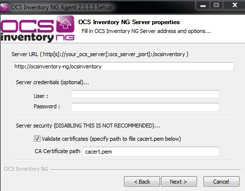 Configuração do IP do servidor