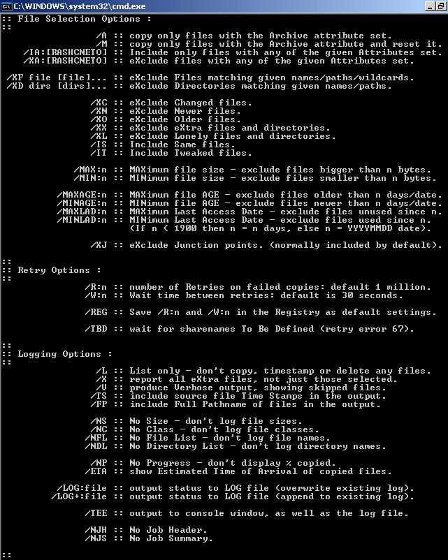 Visão geral do Robocopy - Parte 2