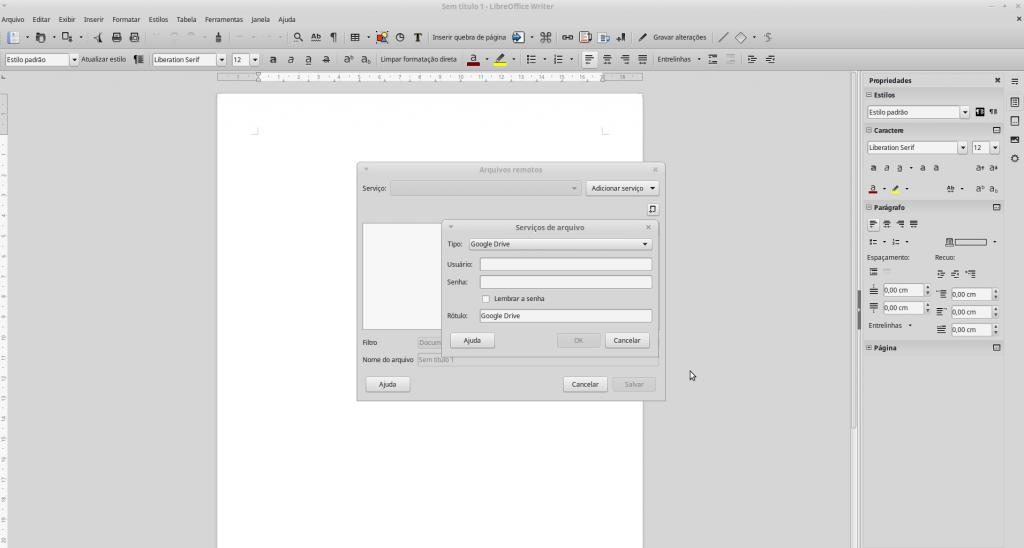 Writer do LibreOffice 5