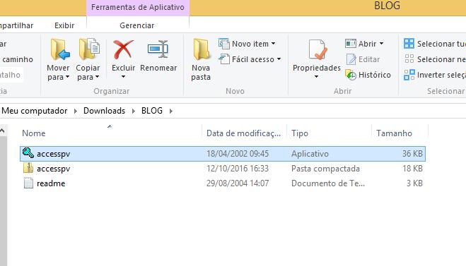 Descompactando o Accesspv