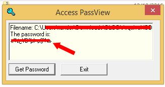 Senha informada, basta copiar e colar quando abrir o acces