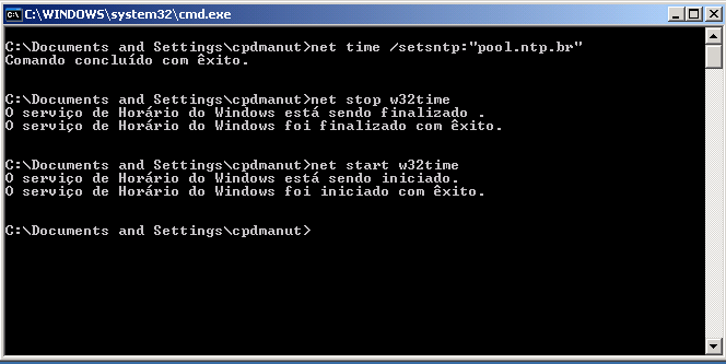 Alterando o servidor NTP