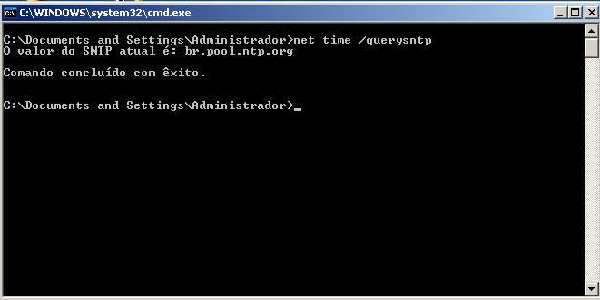 Consultando o servidor NTP